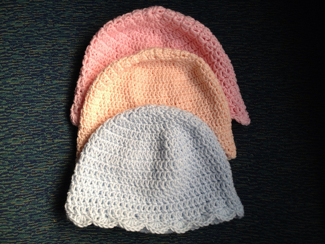 crochet chemo sleep caps