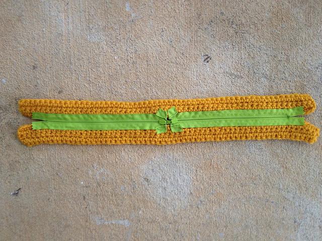 crochet taco purse zippers