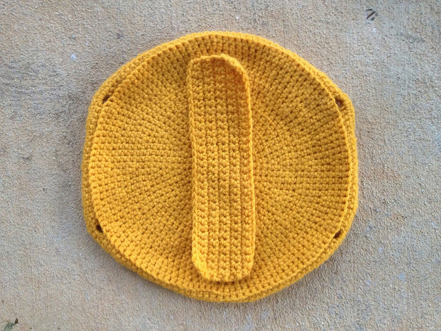 taco purse crochet reinforcement