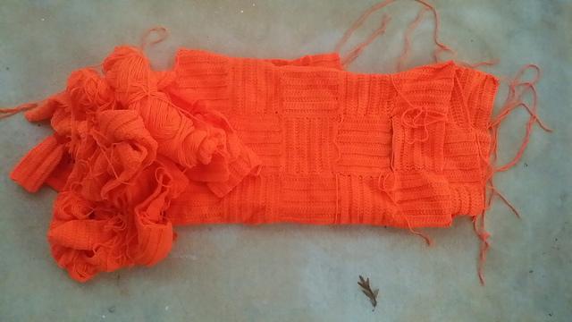 orange crochet squares
