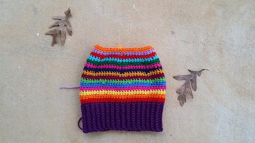 crochetbug, striped crochet hat, crochet beanie, crochet stripes, crochet stash buster, use what you have