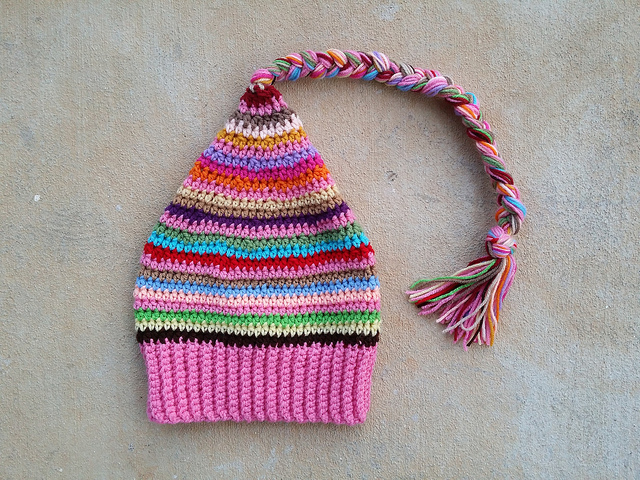 stash buster crochet hat