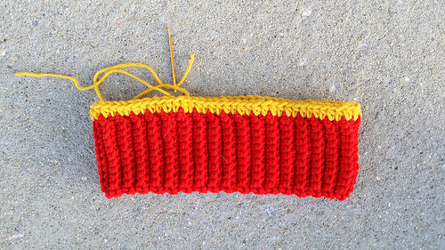 The start of new stash busters crochet hat, crochetbug, use what you have, rojo, red, crochet beanie, waste not want not