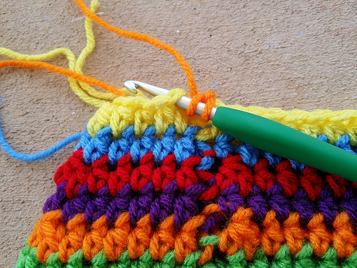 Crochet Yarn Over : Toward a more perfect joining - Crochetbug
