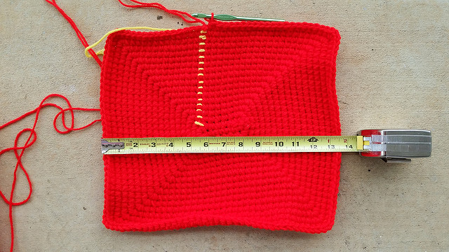 rectangular crochet basket