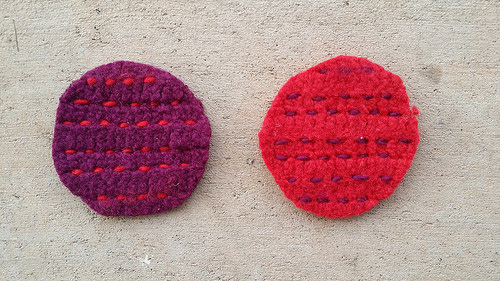 felted table leg coasters