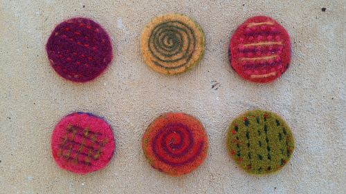 felted crochet circles