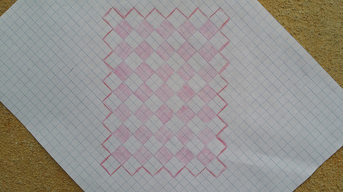 crochet cookie blanket planner made with graph paper