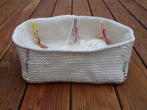 A side view of the third basket