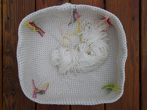 crochet basket interior