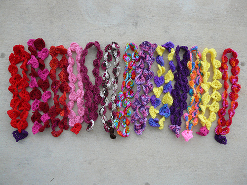 thirteen crochet necklaces