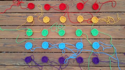 crochet dots crochet circles