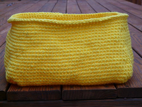 ikea cubby yellow crochet basket