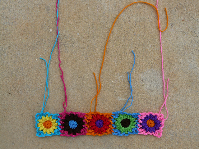 crochet flowers crochet bag