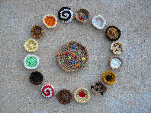 assorted crochet cookies