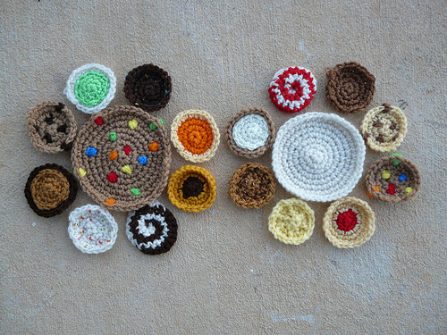 cookie crochet motifs for a crochet purse