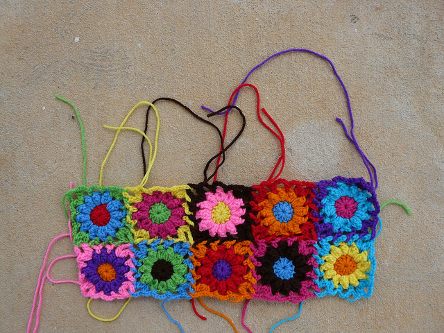 crochet flowers crochet bag crochet purse