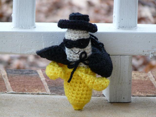 Zorro the crochet banana amigurumi