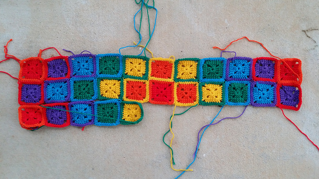 The sunshine and shadow crochet blanket resurfaces