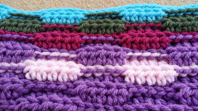 textured crochet stitch crochet swatch