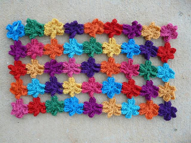 six petal crochet flowers crochet shawl