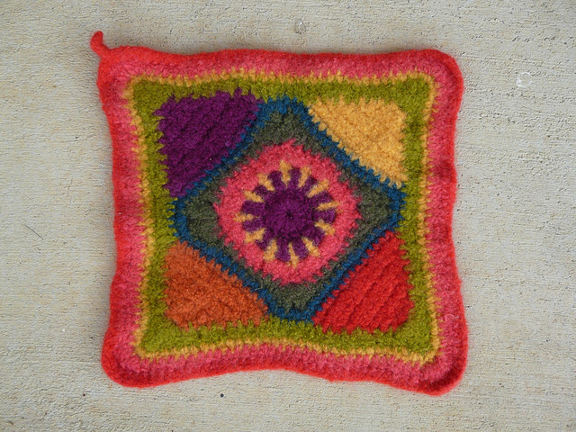 The other hurry up hostess gift potholder after felting