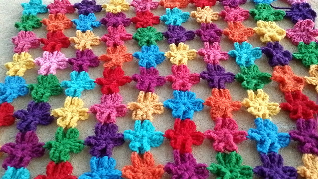 six petal crochet flowers