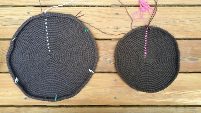 oreo cookie crochet pet mat crochet mat
