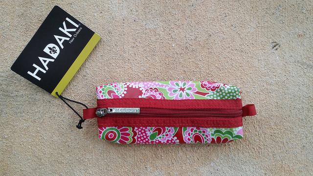 My new Hadaki bag, organizing bag, zippered bag