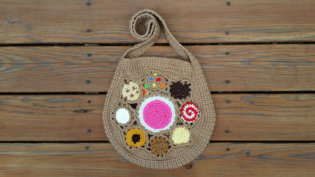crochet cookie bag