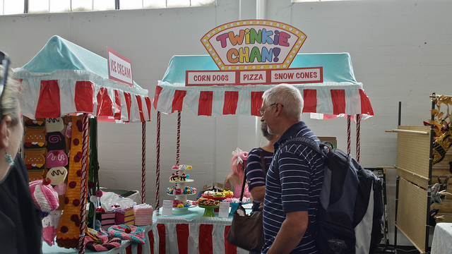 Twinkie Chan's booth