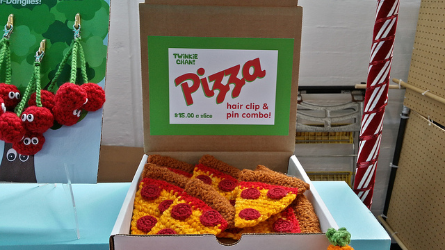 crochet pizza for your hair