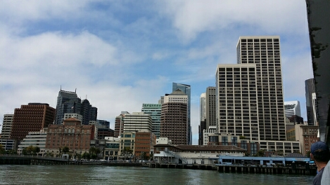 arriving in san francsico by ferry