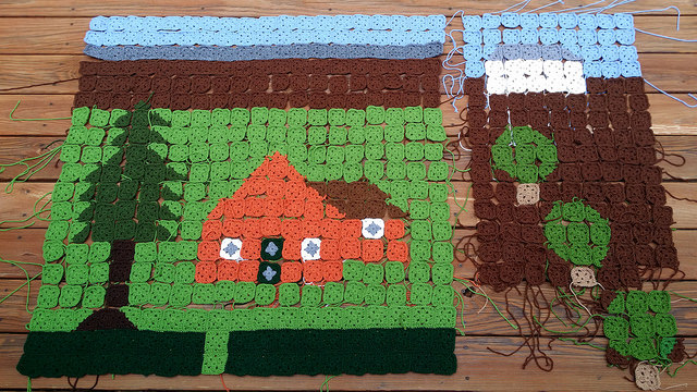 granny square picture blanket