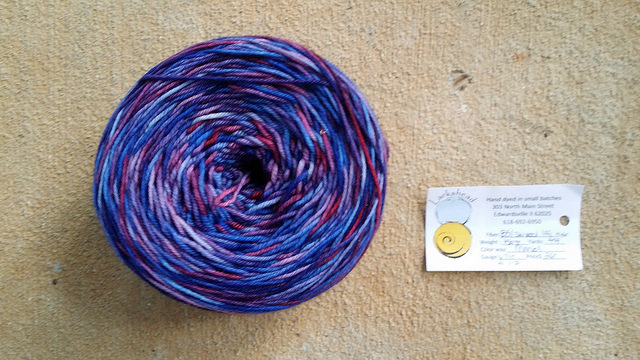 purple fingering weight yarn