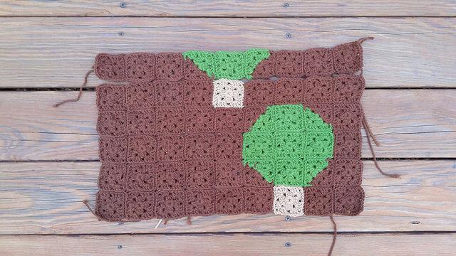 crochet pomegranate tree