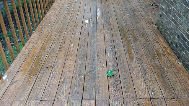 rain soaked deck on the penultimate day