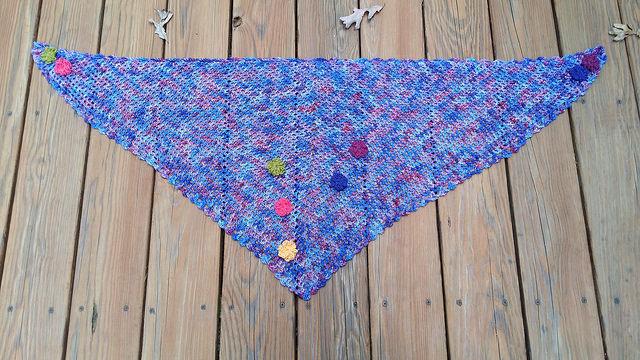 crochet scarf, crochet flowers