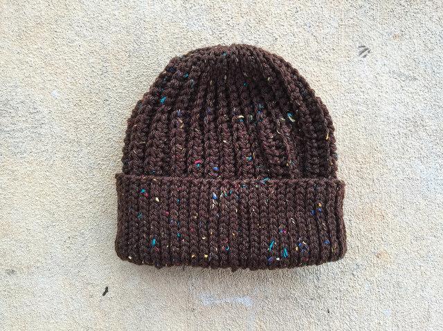 A coffee fleck seafarer's cap