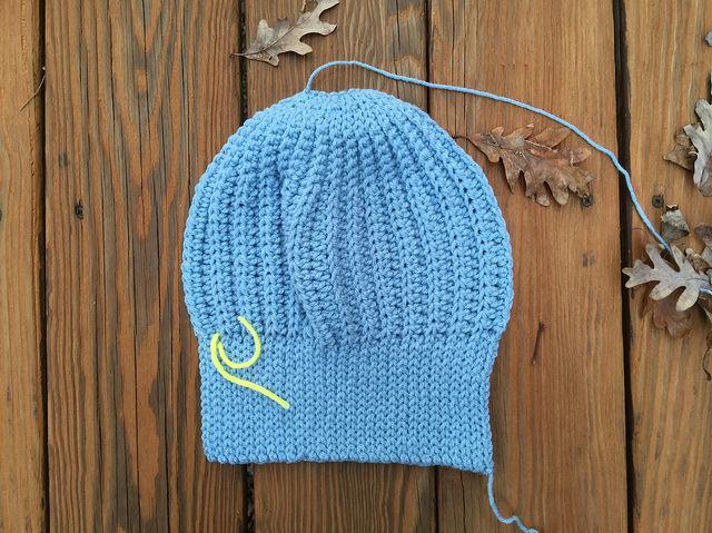 ribbed stitch crochet cap