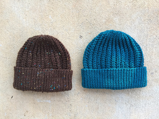 two seafarer's crochet caps