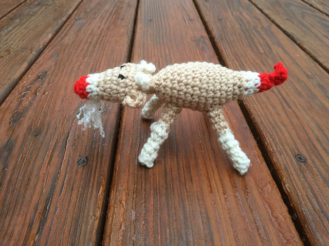 A sideview of my sock monkey inspired goat