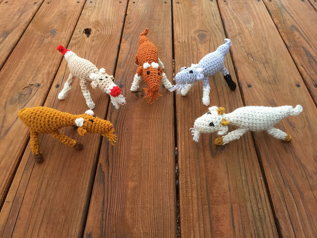A tribe of crochet goats