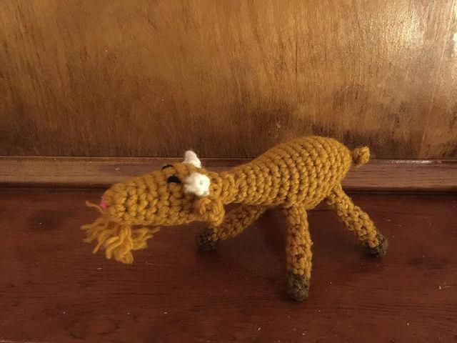 solstice crochet goat