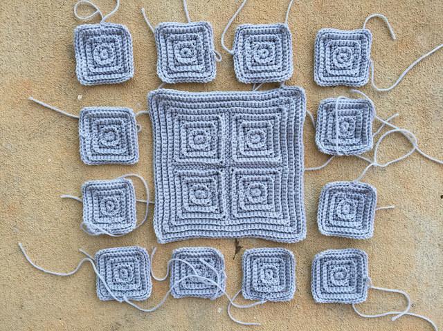 lucky thirteen textured crochet squares