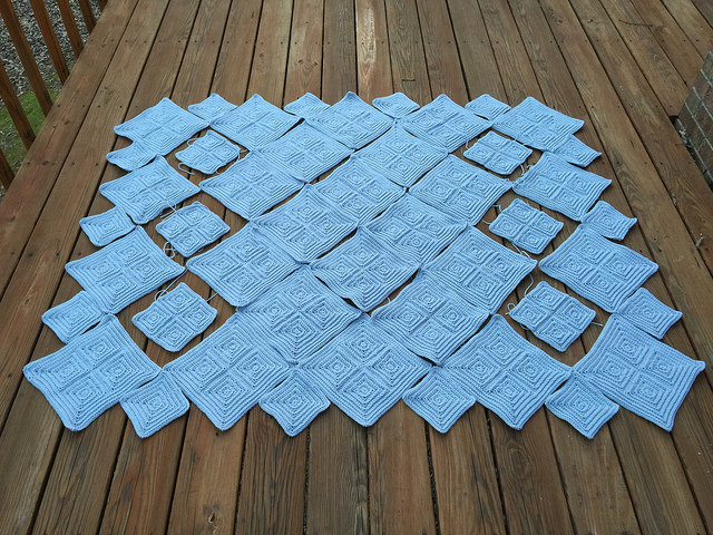 textured crochet square blanket