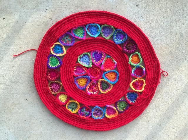 crochet heart crochet mandala