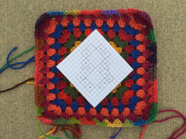 chart for crochet squares