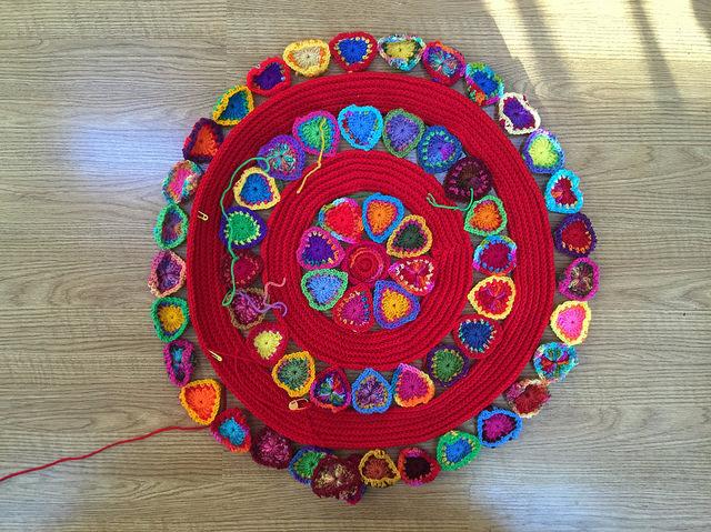 boho crochet hearts crochet mandala