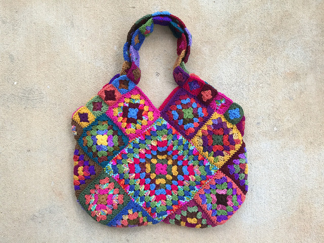 granny square crochet purse, crochetbug, granny square purse, crochet bag, crochet purse
